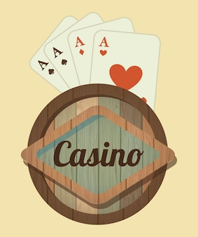 Diseño de casino sobre fondo rosa ilustración vectorial