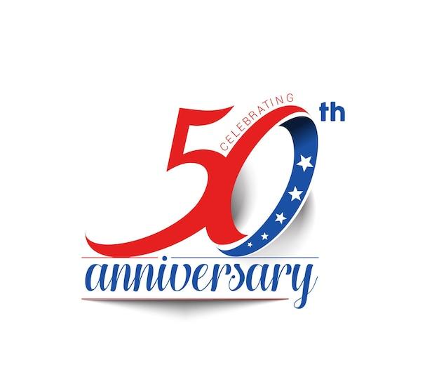 Diseño de celebración de aniversario de 50 años.