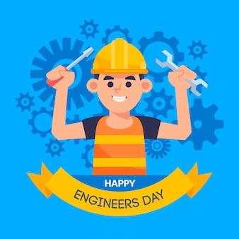 Diseño de celebración del día de ingenieros