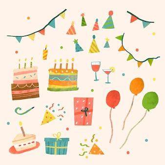 Diseño de celebración de fiesta doodle