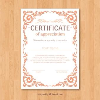 Diseño de certificado de apreciación