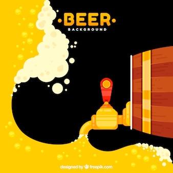 Diseño de cerveza con barril