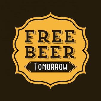 Diseño de cerveza sobre fondo negro ilustración vectorial