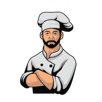 Diseño de chef a color