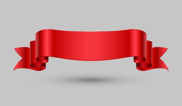 Diseño de cinta roja Vector Premium