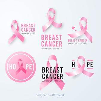 Diseño de cinta rosa para evento de cáncer de mama