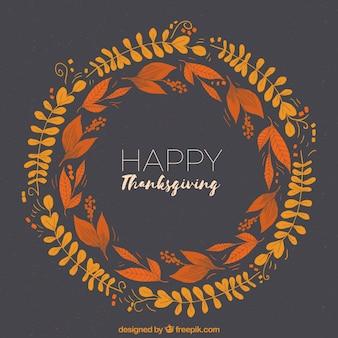 Diseño circular de thanksgiving