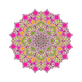 Diseño circular de ornamento de mandala
