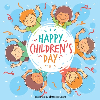 Diseño circular para el día del niño
