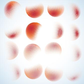 Diseño de círculo de semitono abstracto.