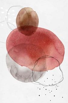 Diseño de círculos de acuarela abstracta colorida