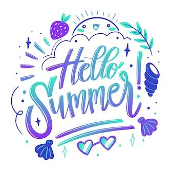 Diseño de cita de letras de verano