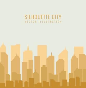 Diseño de la ciudad silueta moderna