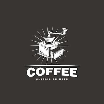 Diseño clásico de logotipo de molinillo