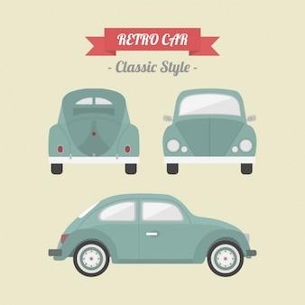 Diseño de coche retro