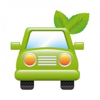 Diseño de coche sobre fondo blanco ilustración vectorial