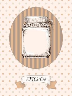 Diseño de cocina. tarro