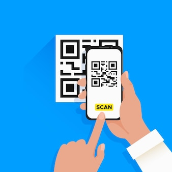 Diseño de código qr de escaneo de teléfonos inteligentes