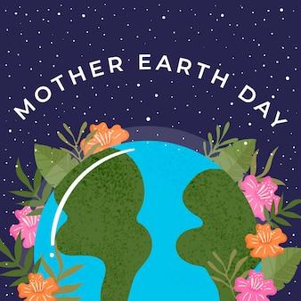 Diseño de colección de banner del día de la madre tierra