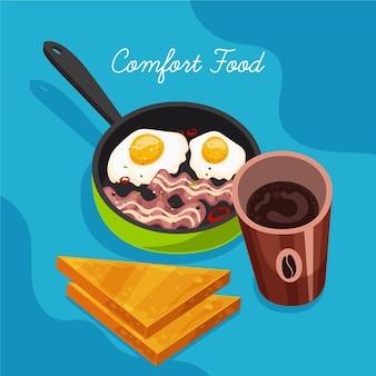Diseño de colección de comida reconfortante
