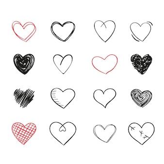 Diseño de colección de corazones