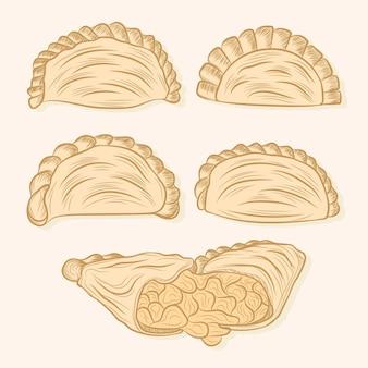 Diseño de la colección empanada
