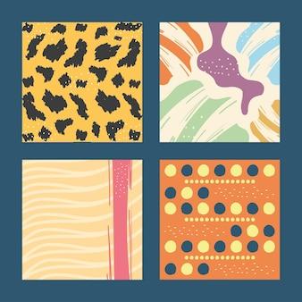 Diseño de colección de iconos de fondos de patrón abstracto, tema de arte y papel tapiz