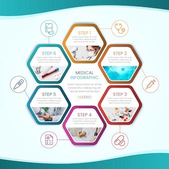 Diseño de colección de infografía médica.
