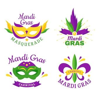 Diseño de colección de insignias de carnaval