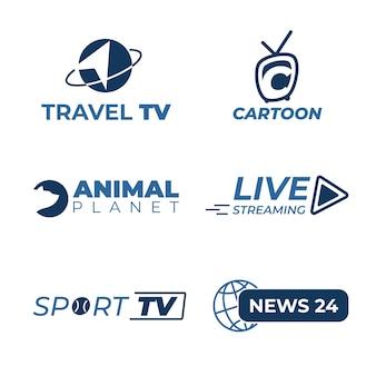 Diseño de la colección de logotipos de noticias