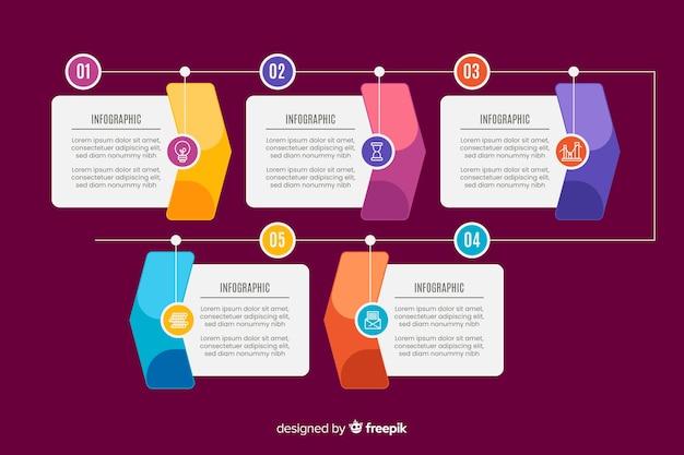 Diseño de colección de pasos de marketing