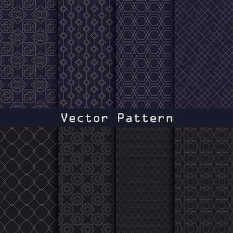 Diseño de colección de patrón de lujo geométrico de vector