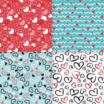 Diseño de colección de patrones de corazón