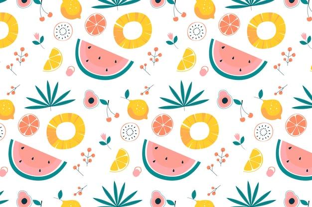 Diseño de colección de patrones de frutas