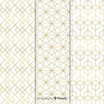 Diseño de colección de patrones de lujo.