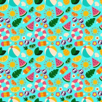 Diseño de colección de patrones de verano