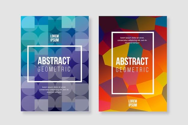 Diseño de colección de portada geométrica abstracta