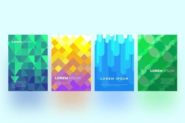 Diseño de colección de portadas geométricas