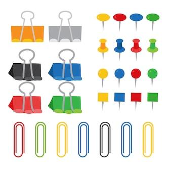 Diseño de colección de vector de clip