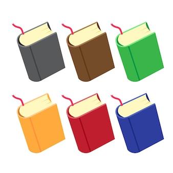 Diseño de colección de vector de libro