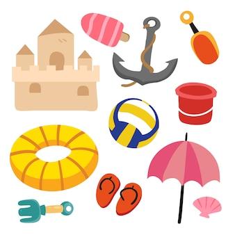 Diseño de colección de vectores de juguetes