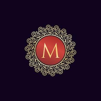 Diseño de colección vintage luxury logo letter m