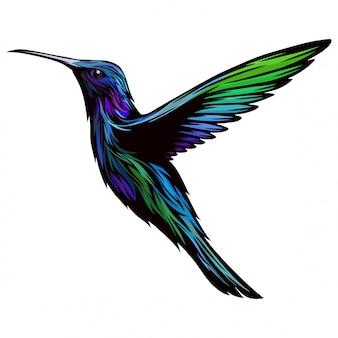 Diseño de colibrí