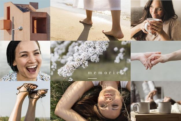 Diseño de collage de fotos