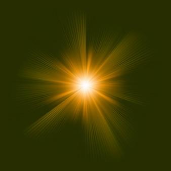 Un diseño de color naranja con una explosión. archivo incluido