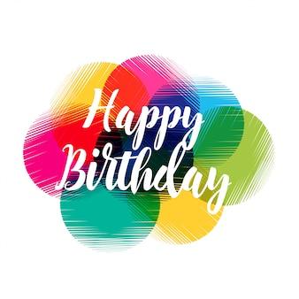 Diseño colorido abstracto feliz cumpleaños
