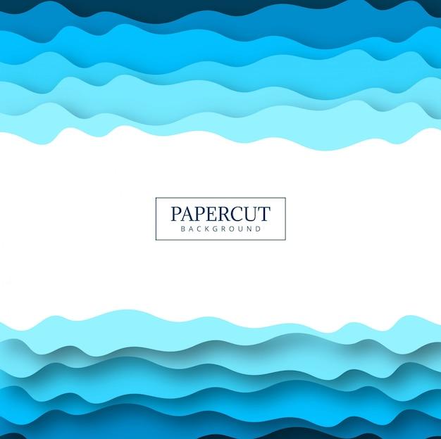 Diseño colorido azul papercut abstracto
