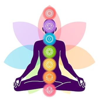 Diseño colorido del concepto chakras