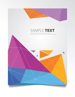 Diseño colorido de cubiertas poligonales. patrón geométrico mínimo