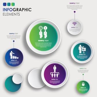 Diseño colorido de la infografía del vector
